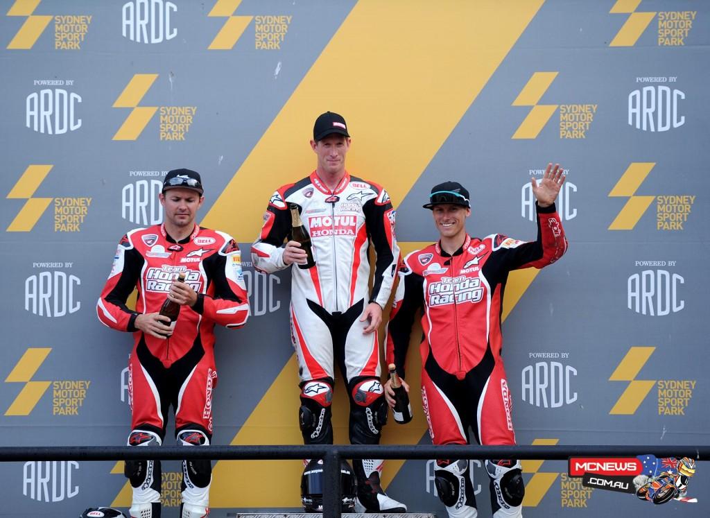 Team Honda Superbike Podium