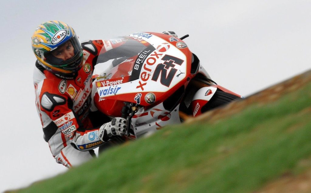 Troy Bayliss at Phillip Island in 2008