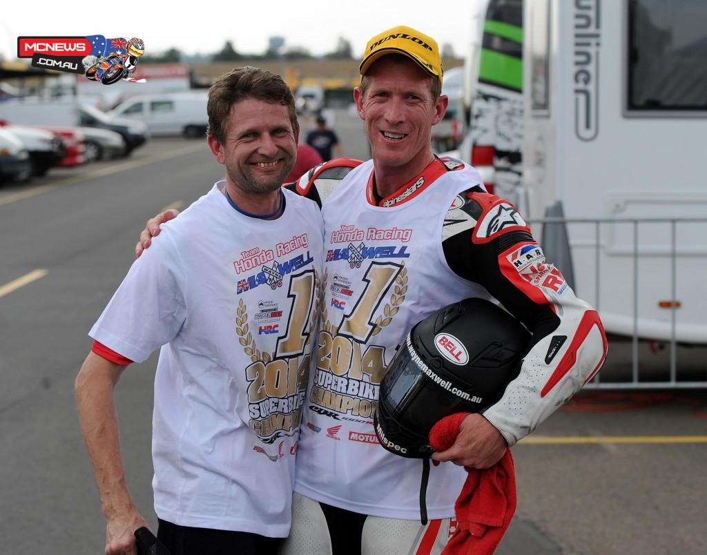 Wayne Maxwell with mechanic Warren Monson