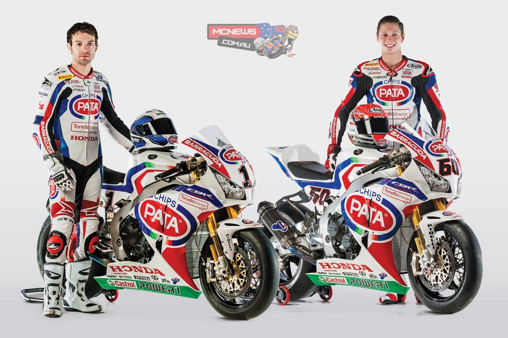 Pata Honda World Superbike 2015 - Michael van der Mark and Sylvain Guintoli