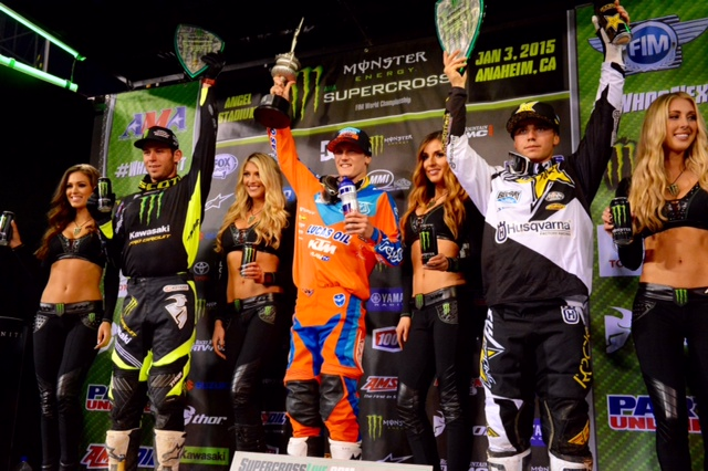 Nelson earned the first 250SX Class win of his career - Photo Credit: Simon Cudby