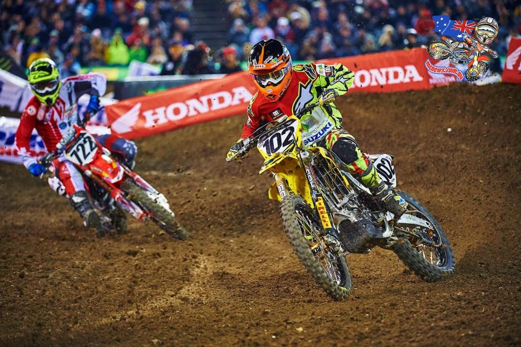Matt Moss in action at Anaheim