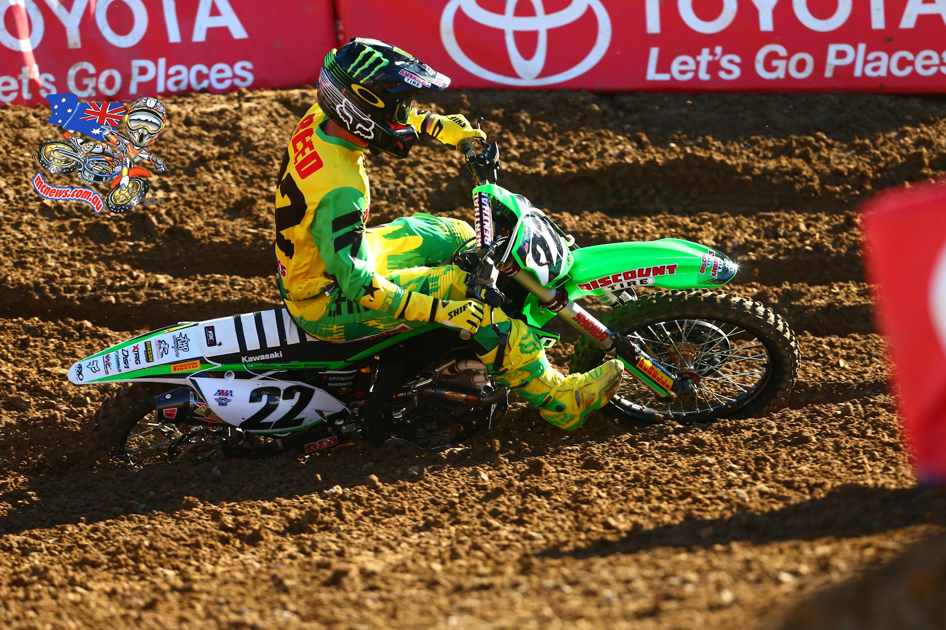 Chad Reed scored a solid third at Oakland