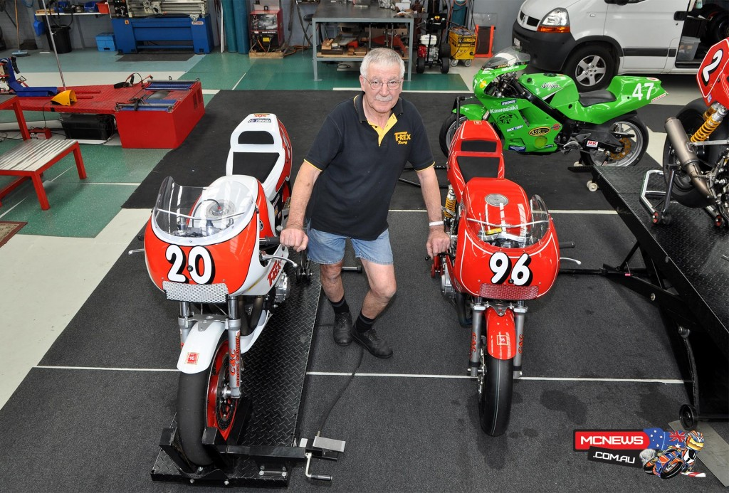 Australian Team Captain Rex Wolfenden with his machines to be raced this weekend by Michael Dibb and Paul Young