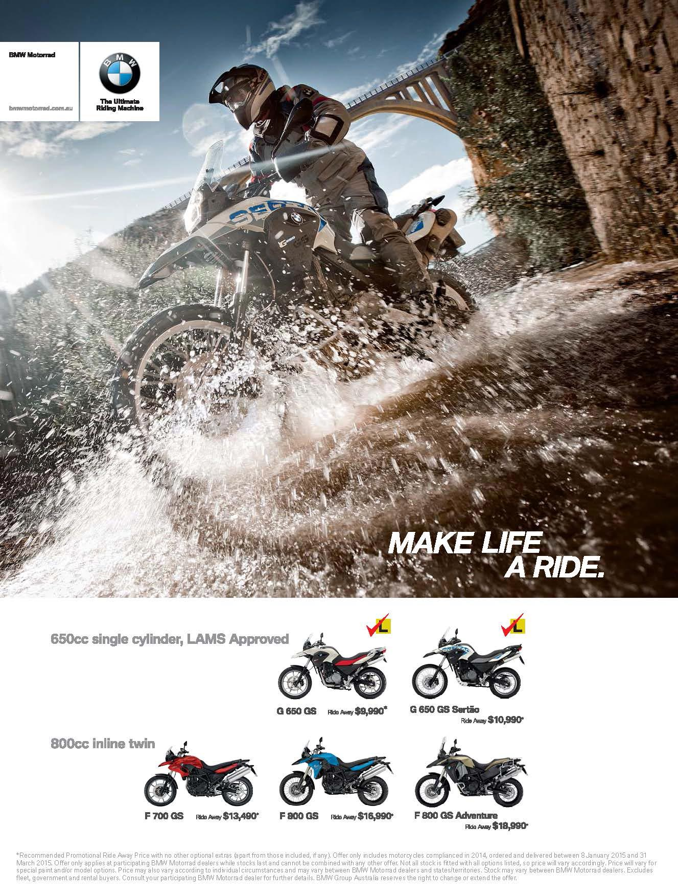 BMW doing deals on 2014 plated GS models