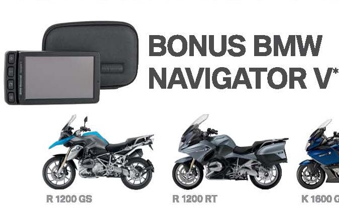 BMW Motorrad sees in the New Year with bonus Navigator V