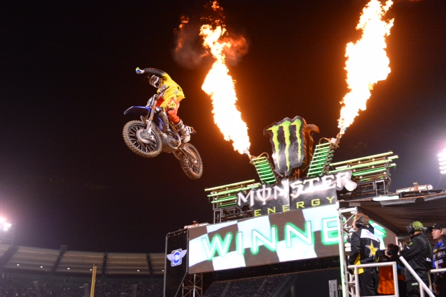 Cooper Webb takes home his first-ever win at Angel Stadium - Photo credit: Simon Cudby