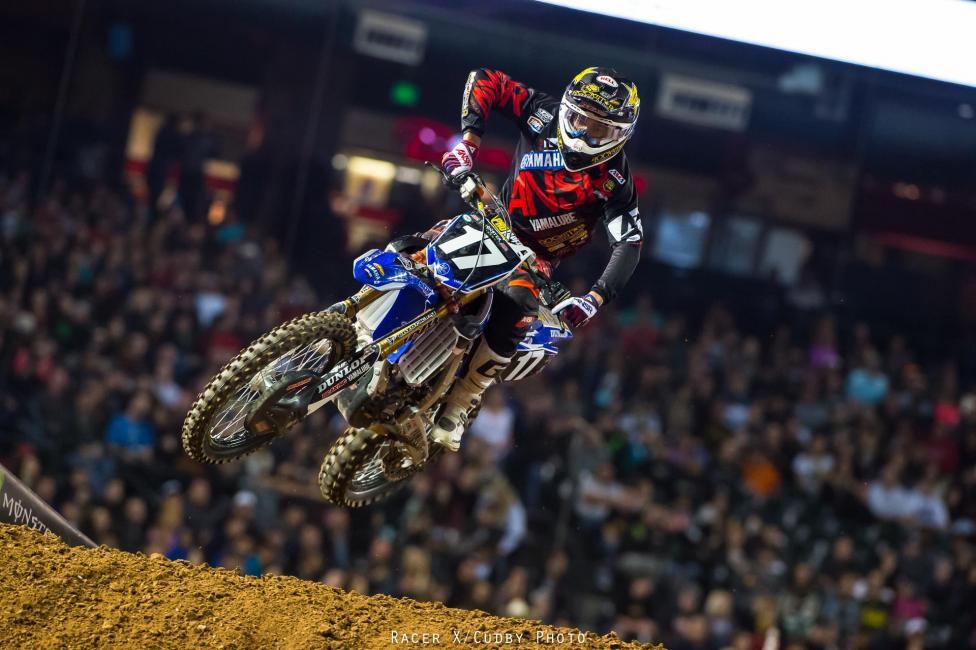 Cooper Webb scored his first Supercross win in Phoenix