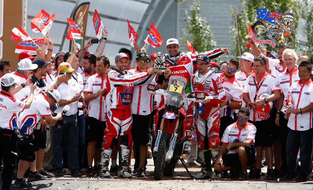 Dakar 2015 Team HRC Paolo Goncalves second overall