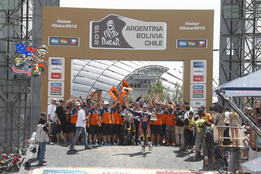 Marc Coma brought home his fifth Dakar victory, the 14th for KTM