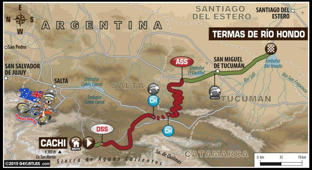 Dakar 2015 Stage 11 Map
