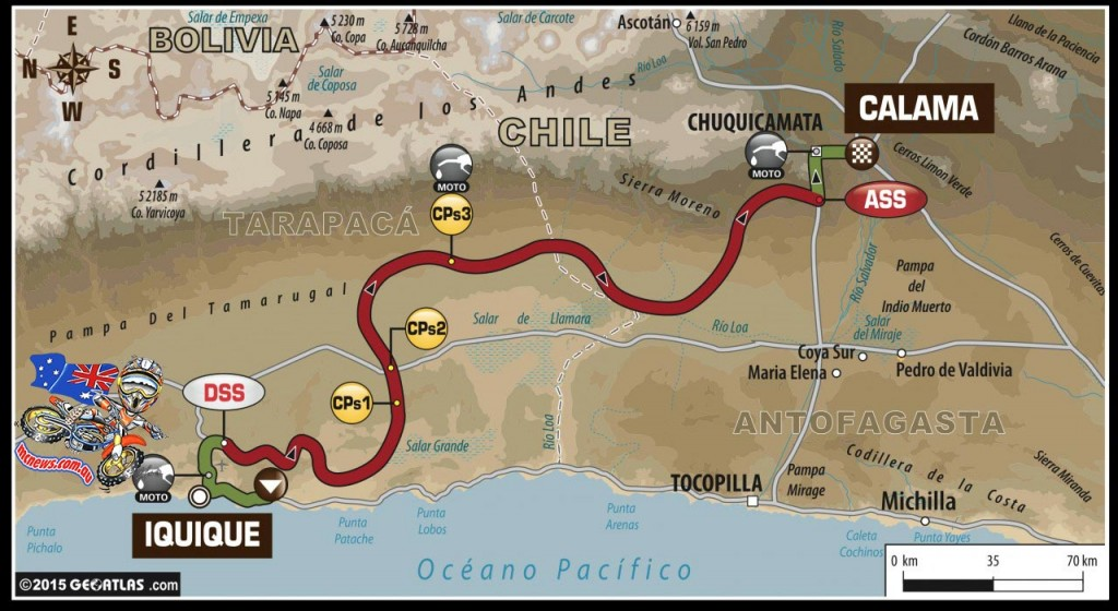 Tomorrow... Dakar 2015 - STAGE 9 – Tuesday, 13th January - Iquique (CHI) – Calama (CHI) Liaison:88 km - Special stage:450 km