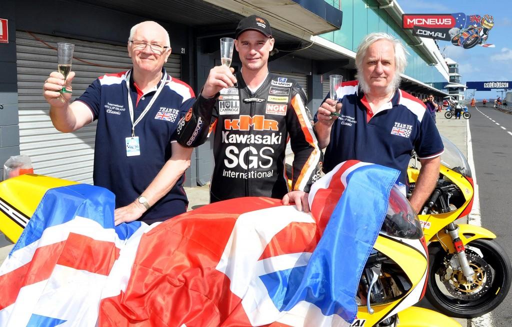 Ryan Farquhar celebrates International Challenge victory