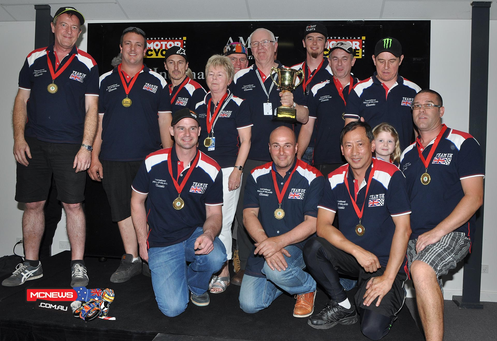 Team UK celebrate Island Classic International Challenge victory