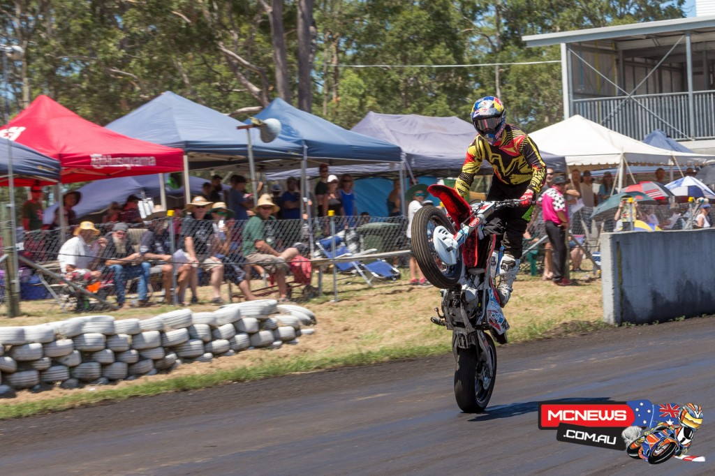 Jack Miller styled it up for the Troy Bayliss Classoc crowd at every opportunity
