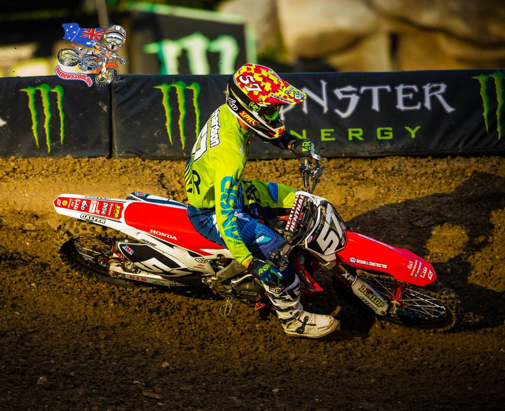 Jackson Richardson qualified 13th place and pulled the holeshot in his heat