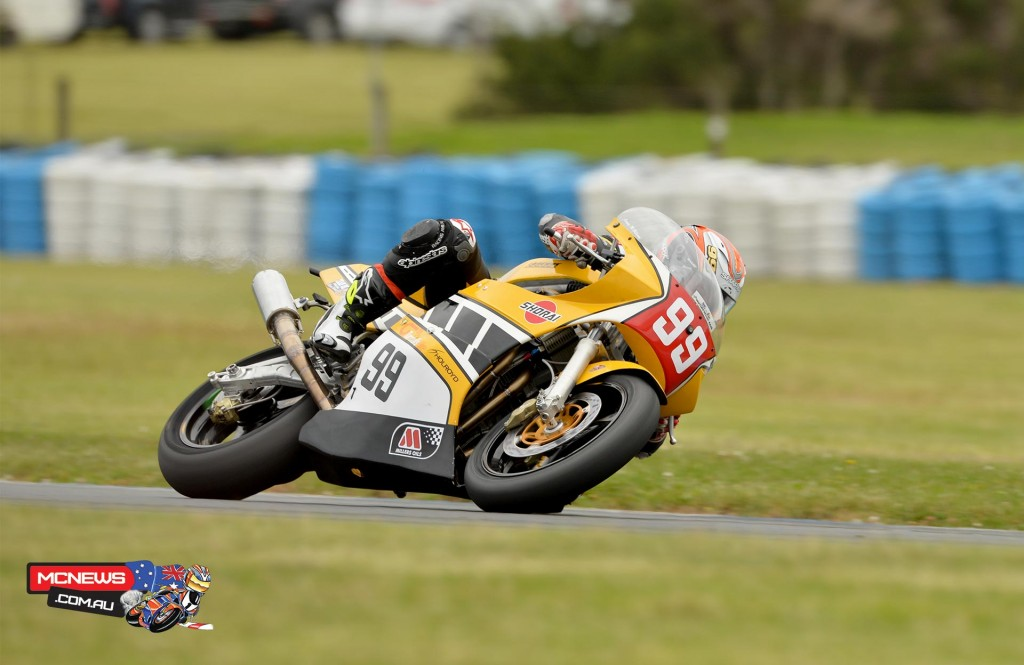 Jeremy McWilliams on his way to pole position at Phillip Island today - Pic Russell Colvin