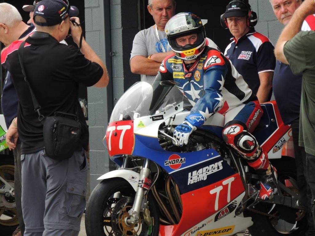 John McGuinness exiting the pit box