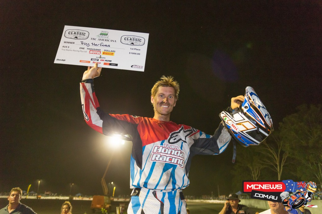 Troy Herfoss took out the American run-off series at the 2015 Troy Bayliss Classic