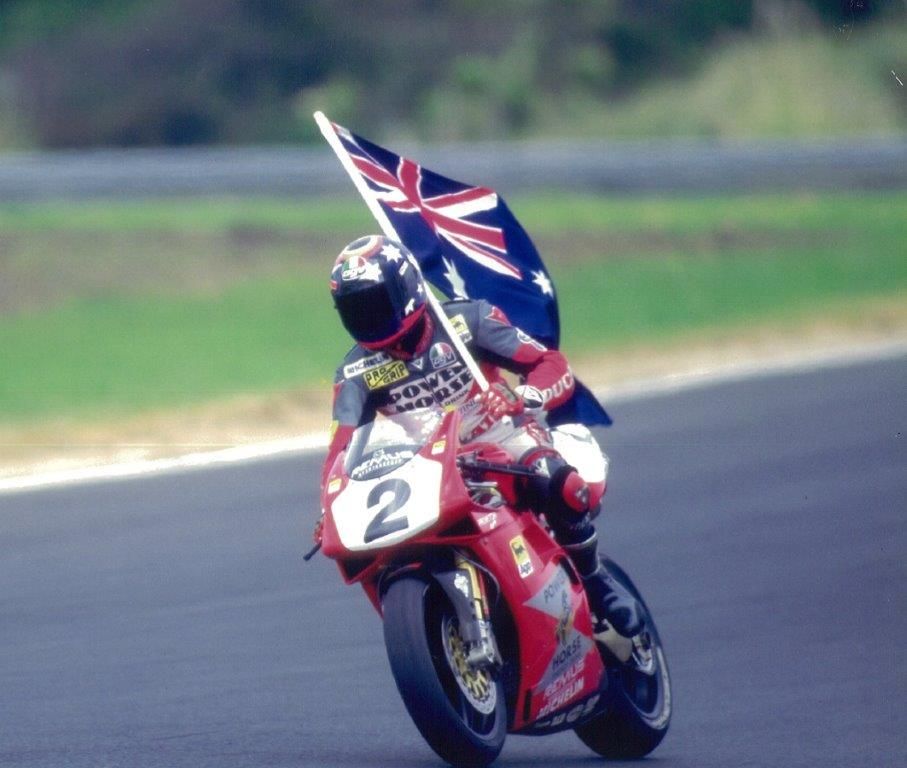 1996 Troy Corser WSBK Champion crowned at Phillip Island