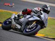 Mark McVeigh on the 2015 Yamaha YZF-R1M at Sydney Motorsports Park