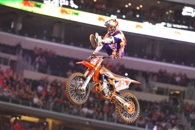 Dungey padded his points lead to 12 with his win - Photo Credit: Simon Cudby