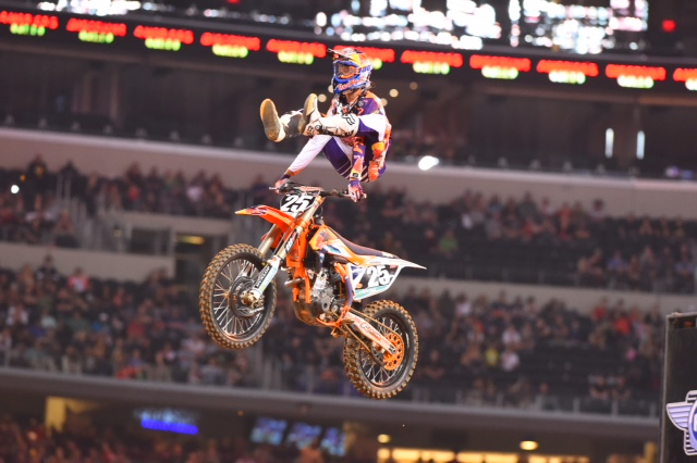Musquin is jumping for joy -Photo Credit: Simon Cudby