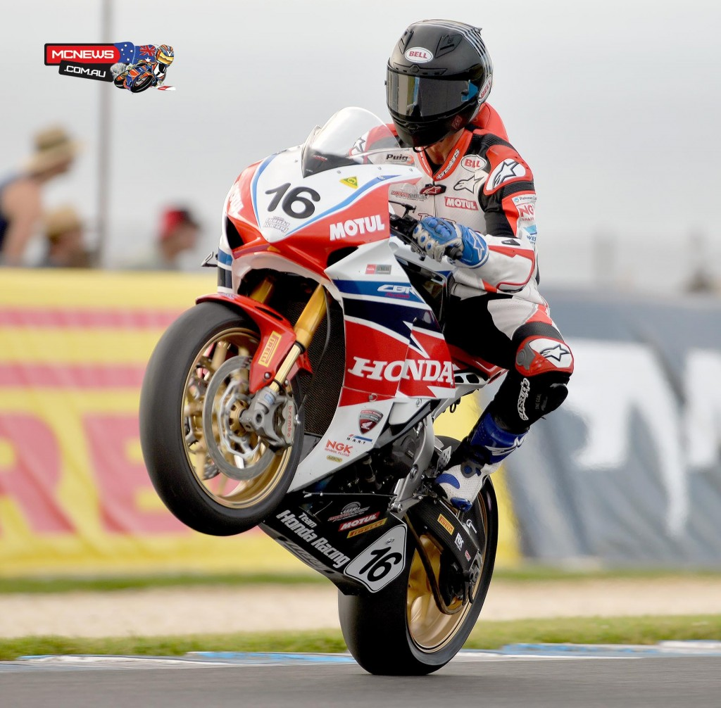 Josh Hook won the opening ASBK race of 2015 at Phillip Island before heading to Japan