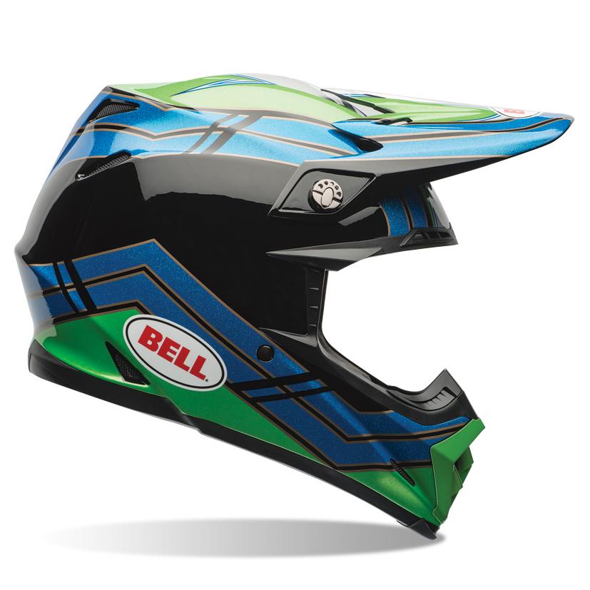 Bell Moto9 Green-Blue