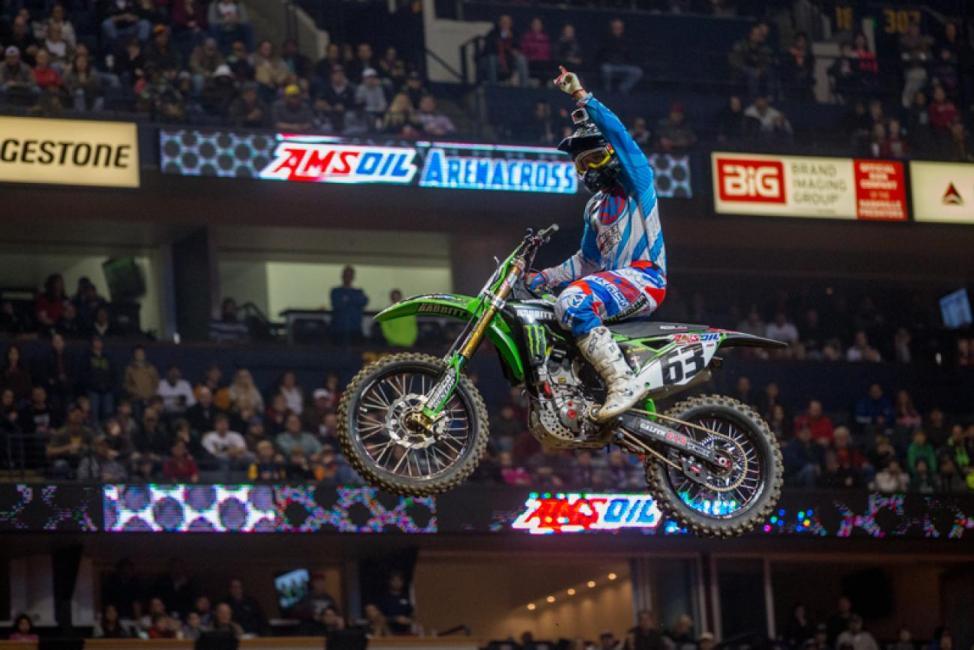Chris Blose won both Arenacross main events in Nashville