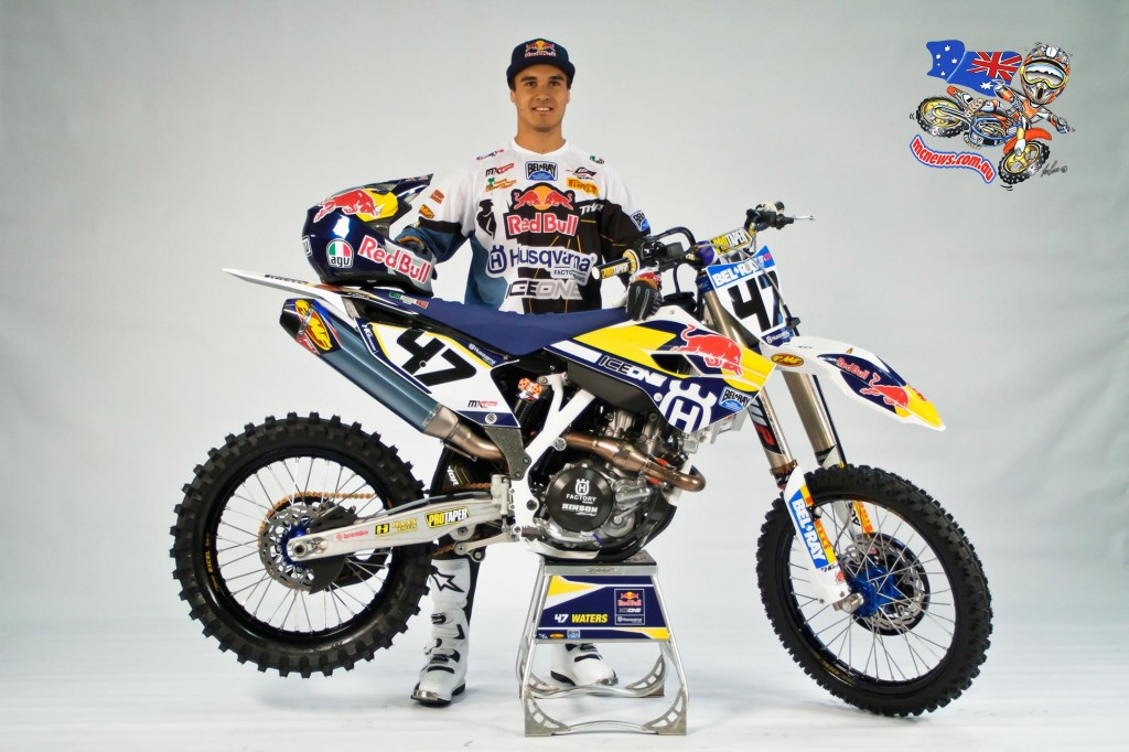 Todd Waters will compete on Husqvarna's FC 450 in MXGP