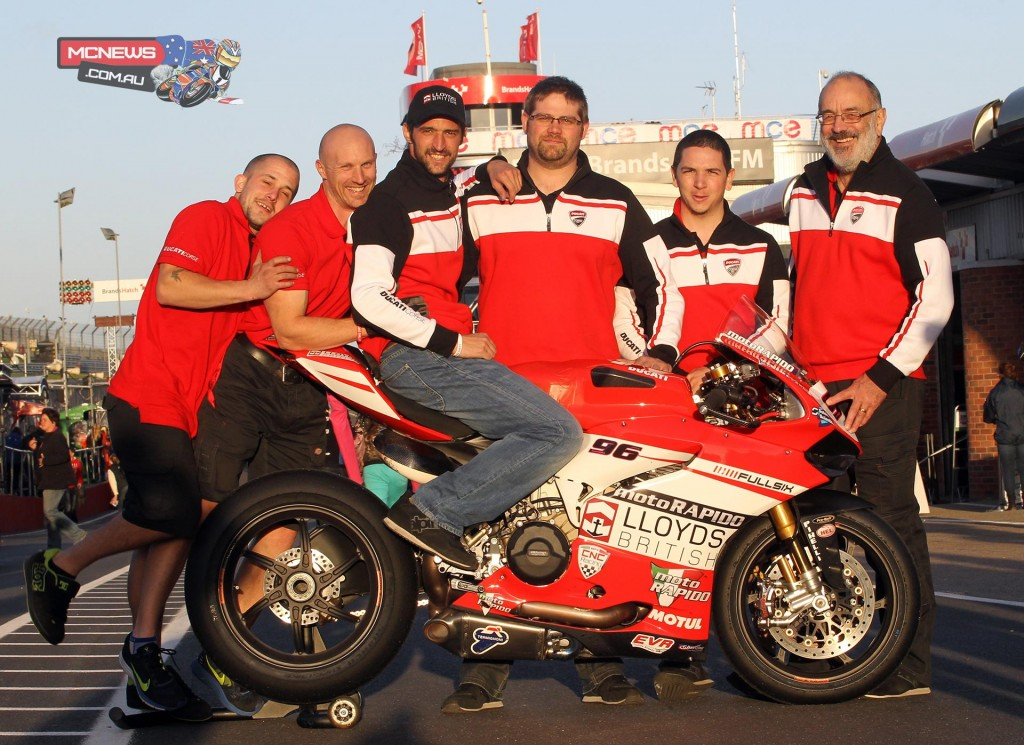 Jakub Smrz with the Moto Rapido Ducati Team early in the year