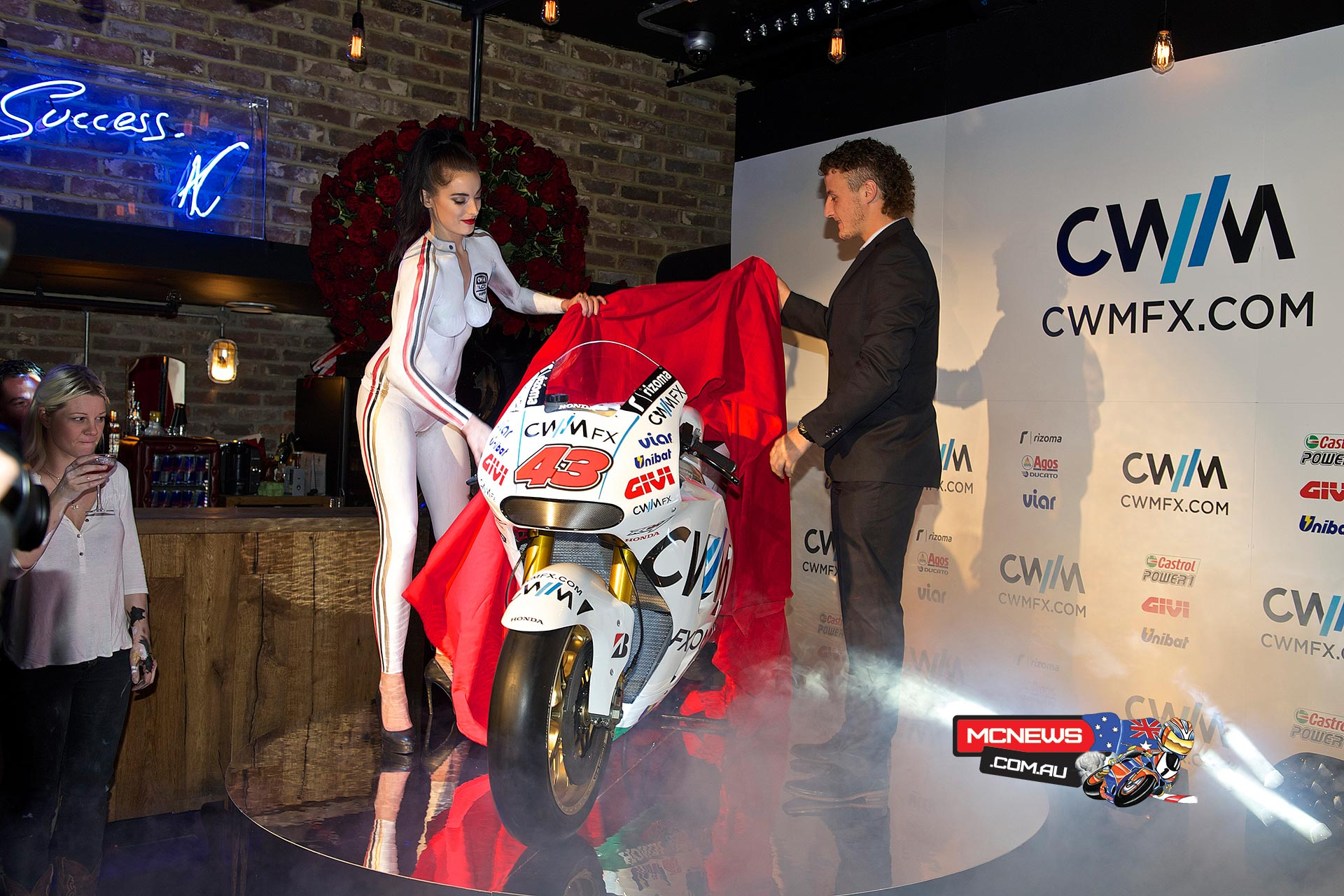 CWM LCR Honda riders Cal Crutchlow and Jack Miller revealed their new look race machines