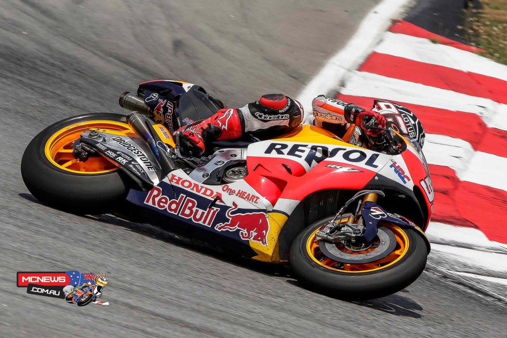 """Marc Marquez - 6TH 2'01.190 (43 LAPS) - """"Today was a slightly strange day and not very productive, because I had some difficulties with the front brakes from the first run-out. We focused on improving that aspect of the bike and could only do runs of one or two laps. That took up the time we had allotted for trying other things and prevented us from progressing. Now we will try to find the source of the problem and tomorrow we hope to continue with the testing plan."""""""