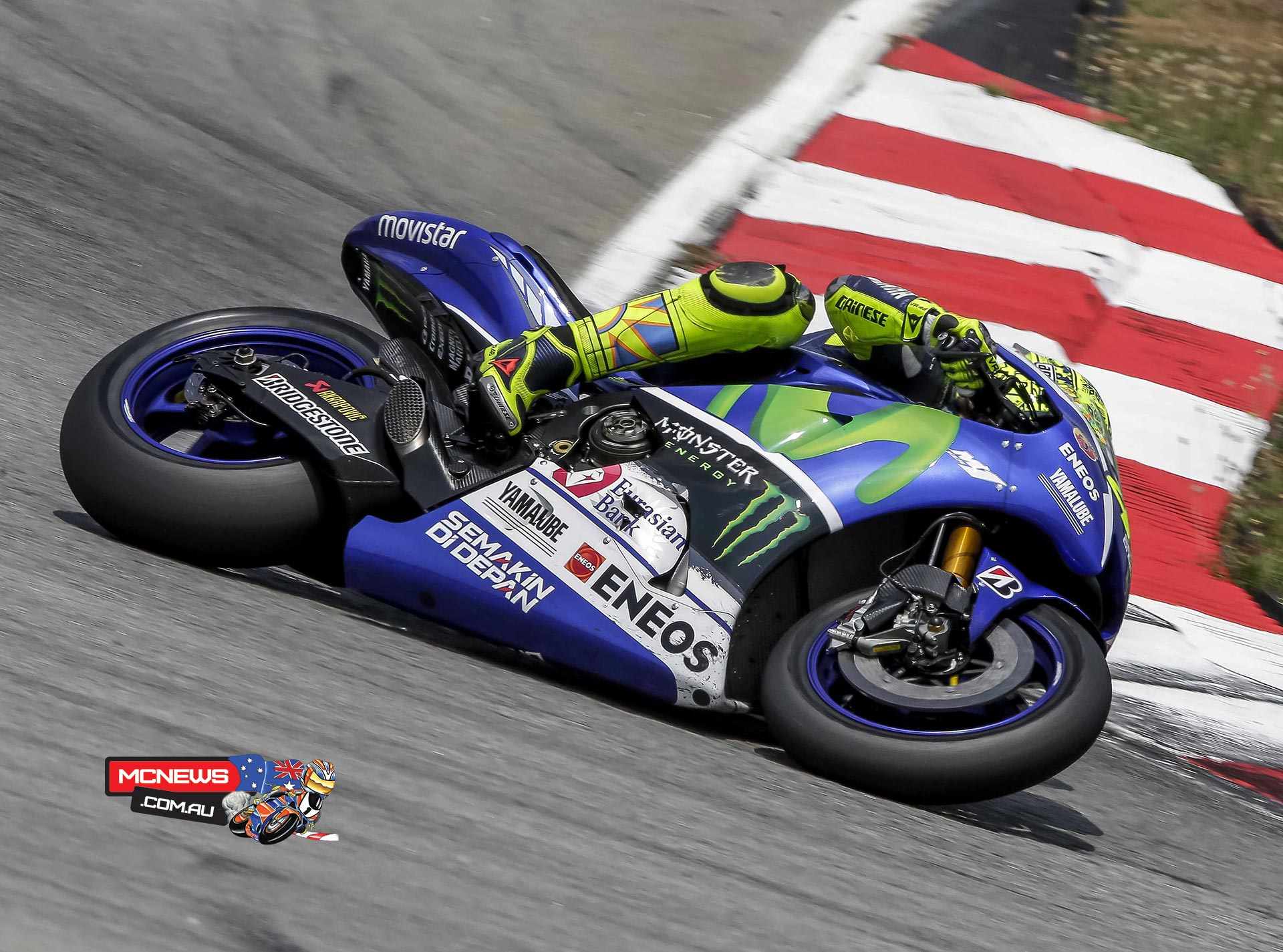 """Valentino Rossi - 1st / 2'00.414 / 54 Laps - """"Everybody in our team was curious about the updated gearbox and the first impression is quite positive, so I'm happy. It doesn't make a huge difference, but it's a small help in a difficult point where we need to improve. The bike is a bit better in braking and corner entry and I think we need to work to understand the maximal potential, but the first test was good. I am happy to finish in the first position because I was in P1 from this morning, so it's a good first day. It's important for us to make some kilometers on the wet. I don't really like the feeling with the bike on the wet and last year I struggled a bit. We already improved a bit today, but we need to do some more testing and make some more kilometers."""""""