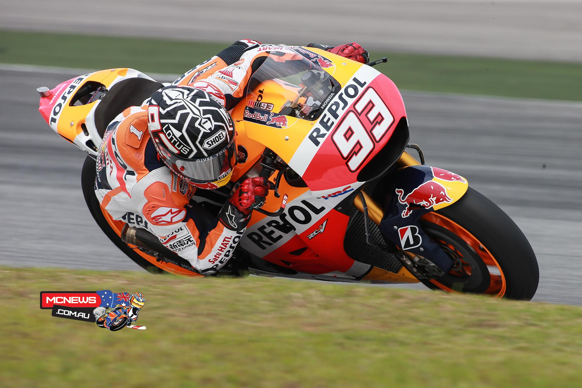 """Marc Marquez - 1ST 1'58.867 (52 LAPS) - """"The truth is that when I saw the time I was surprised, just like everyone else! In any case, I must say that today the track was fast, as we all rode faster than before. I'm glad I was able to set a good lap, but more important is the fact that I felt very comfortable, right from the start. We did a race simulation later on, which also went very well and was perhaps even more important than a single lap. During the race simulation we tested different mapping and in every part we tried different things. The positive is that with the new bike we are already at the same level as in 2014, and there is still plenty of room for improvement. Now I can't wait for the second test and to see what progress we can make."""""""