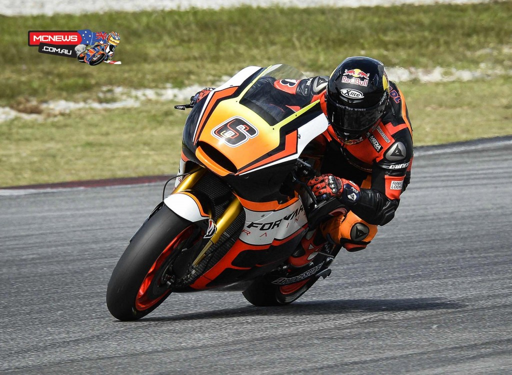 Stefan Bradl (Forward Racing Team) finished as the top Open equipped rider in eighth and will be pleased with his performance at this test, with an engine upgrade still to come before the season starts.