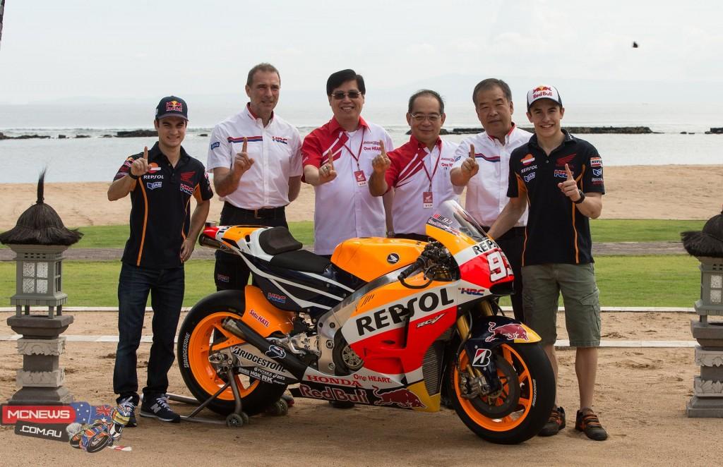 Repsol HRC 2015 RC213V reveal in Bali
