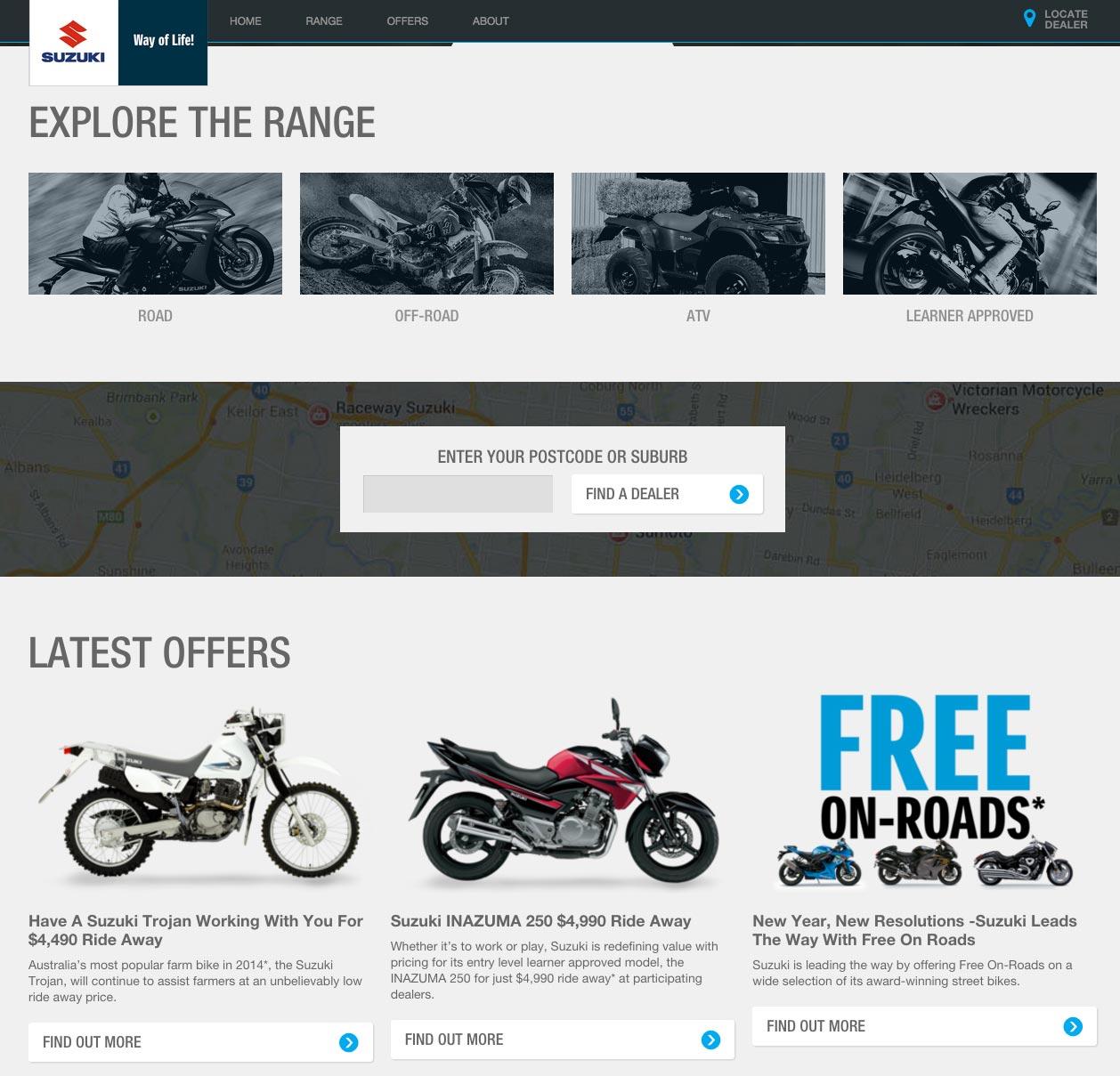 Suzuki Motorcycles Australia Launches New Website