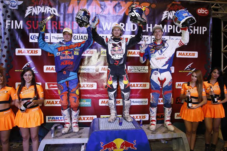 Taddy topped the SuperEnduro Podium