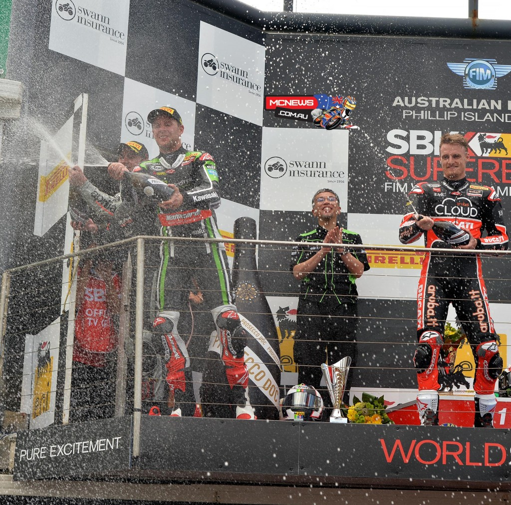 World Superbike 2015 Round One Race One Podium