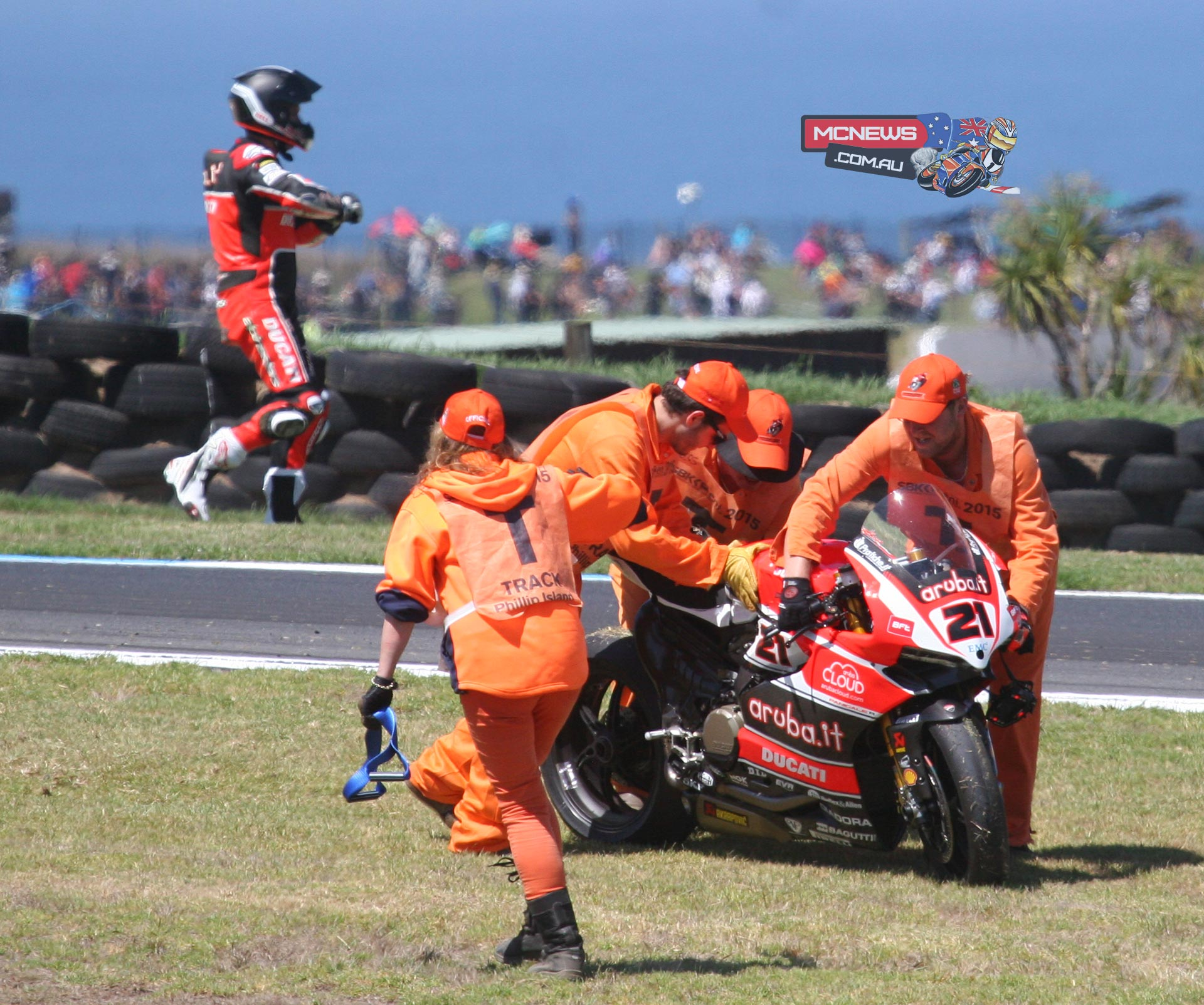Bayliss was 12th quickest in the session but in the dying minutes suffered a huge high-side crash at turn nine