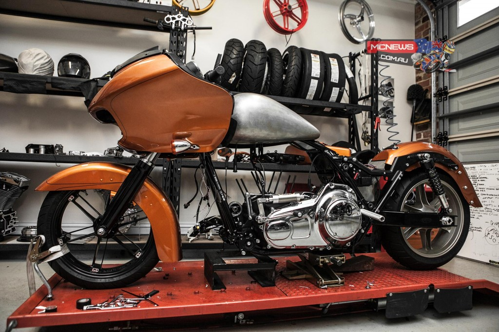 2015 Harley-Davidson FLTRXS Road Glide Special, named Pepper is set to challenge in the Modified Partial Streamlined – Push Rod Fuel (MPS-PF) class at Lake Gairdner Speed Week