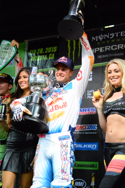 Ryan Dungey became the first three-time winner of the season  (Photo: Simon Cudby)
