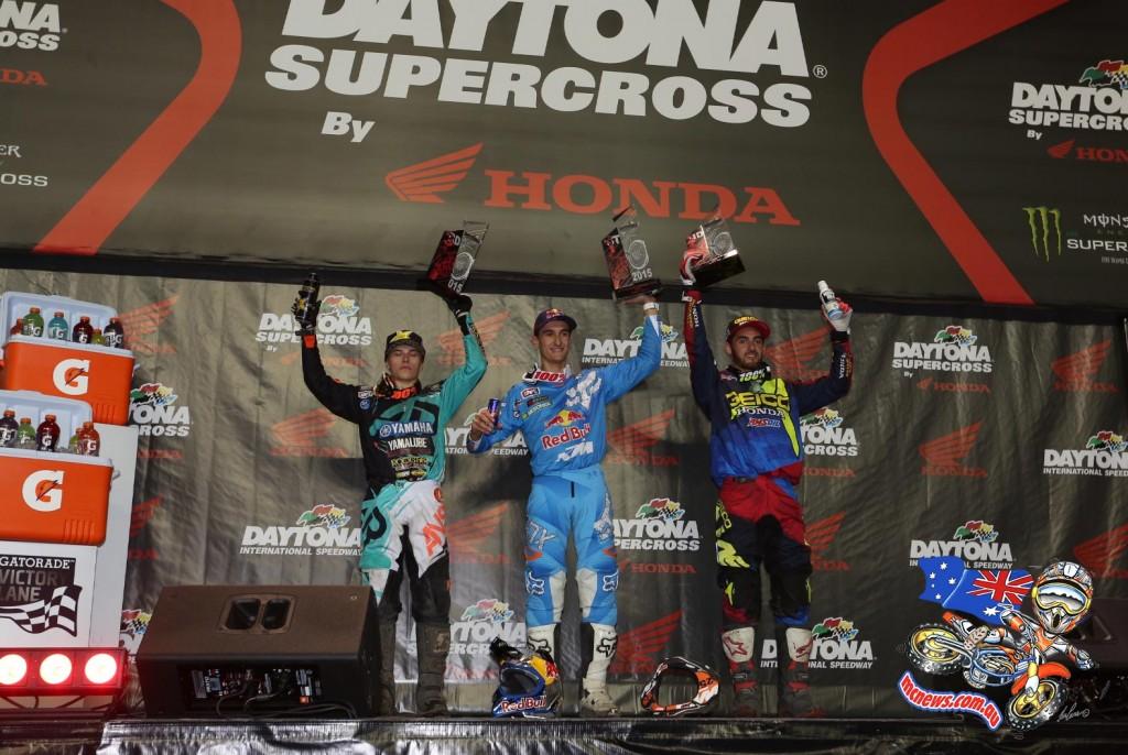 Daytona Supercross 250 Podium