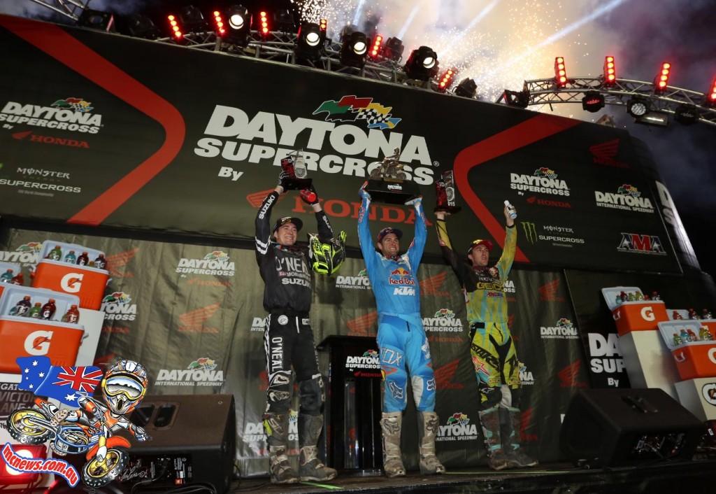 Daytona Supercross 450 Podium