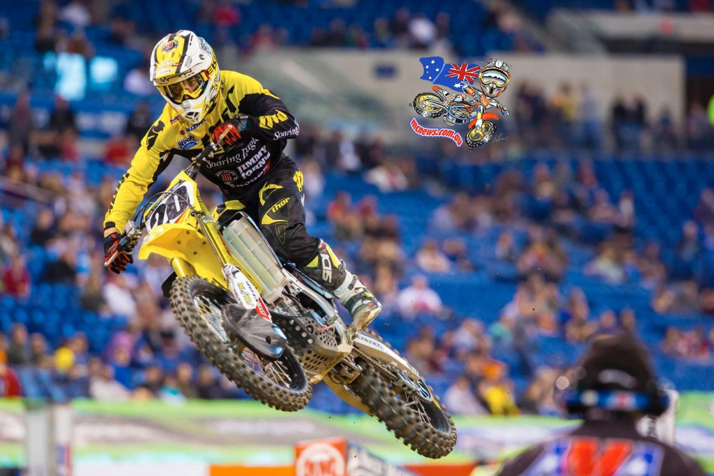 Broc Tickle in action at Indy