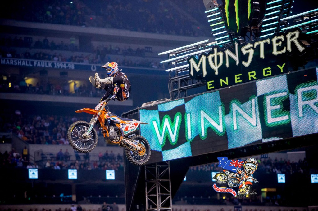 Marvin Musquin capturing his fourth Eastern Regional 250SX Class Main Event win