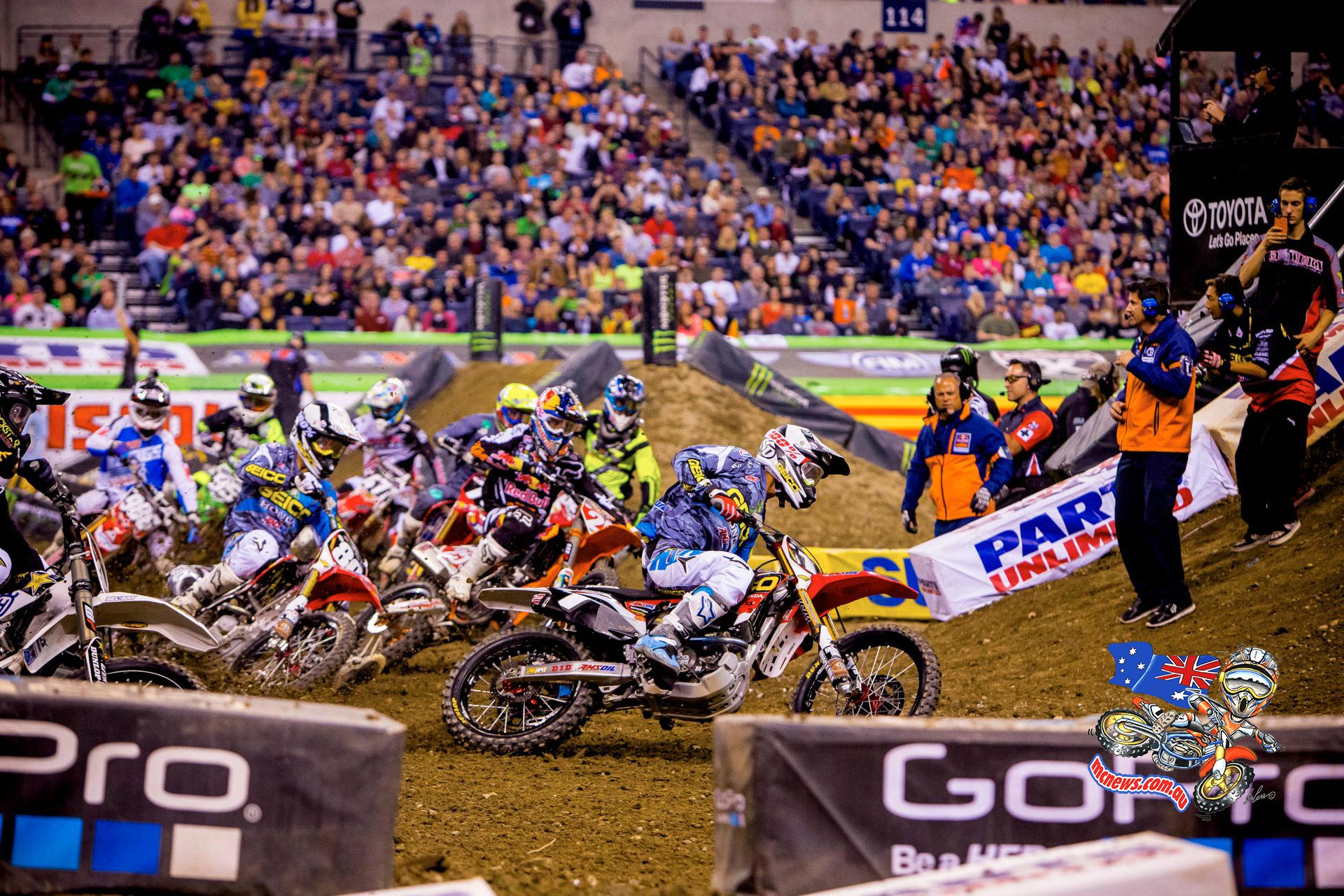 AMA Supercross action from Indianapolis
