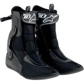 "Alpinestars innovative and patented biomechanical inner ankle brace features medial and lateral ""C"" torsion bars to control ankle and leg rotation, while allowing freedom of movement."